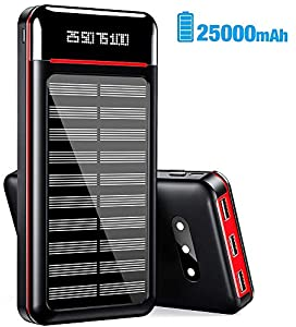 RLERON Power Bank 25000mah Portable Solar Charger A great item